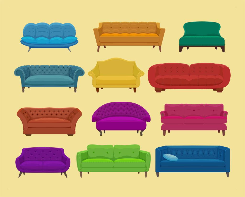 Iconos de Sofás en varios colores Vélez Máága