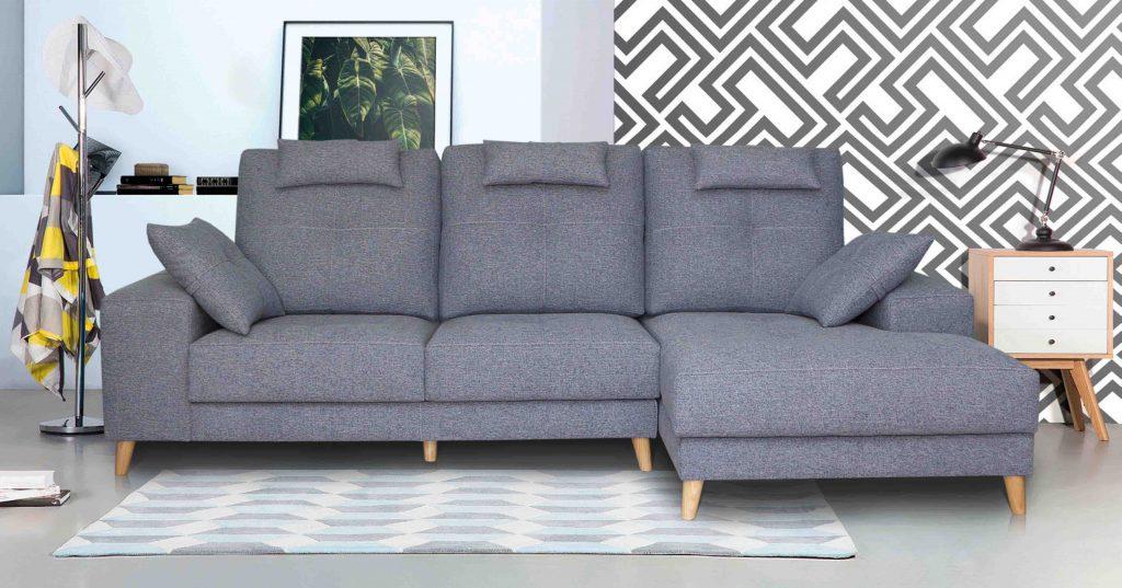 sofá gris en vélez málaga nórdico